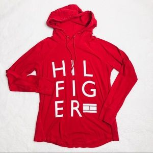 Tommy Hilfiger sport red pullover hoodie